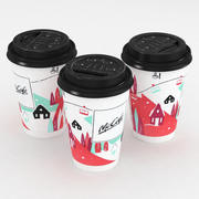 McDonalds Cup Winter Christmas 400ml 3d model