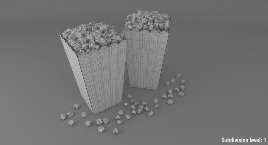 Popcorn W Pudełkach royalty-free 3d model - Preview no. 11