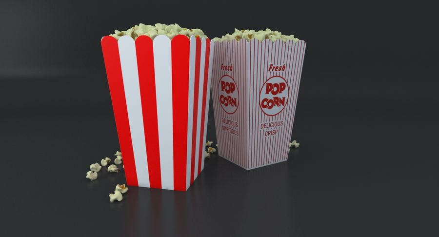 Popcorn W Pudełkach royalty-free 3d model - Preview no. 18