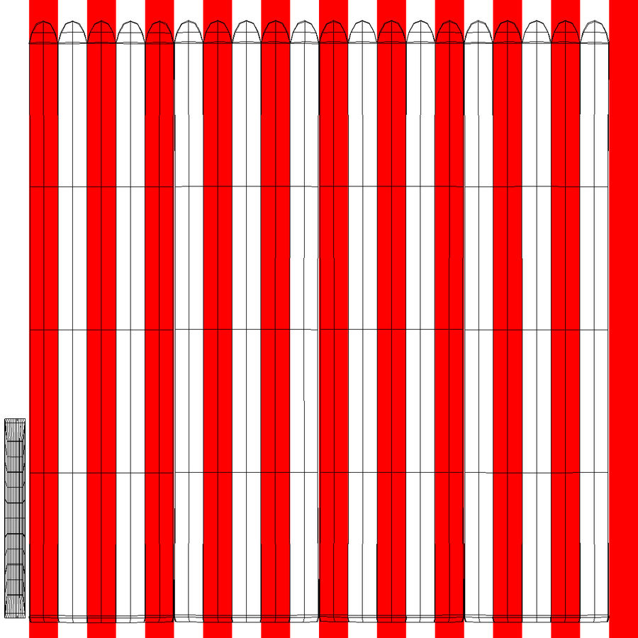 상자에 팝콘 royalty-free 3d model - Preview no. 10