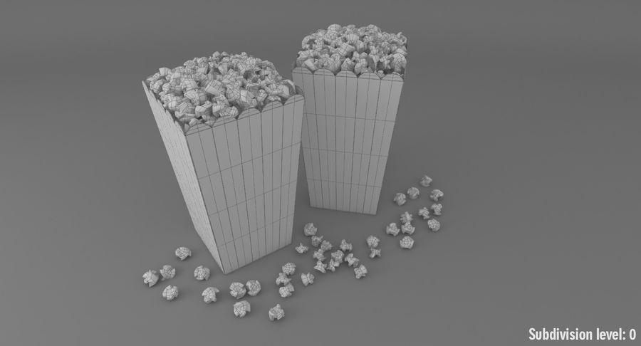 Popcorn W Pudełkach royalty-free 3d model - Preview no. 12