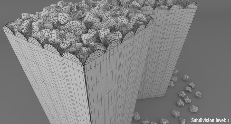 Popcorn W Pudełkach royalty-free 3d model - Preview no. 15