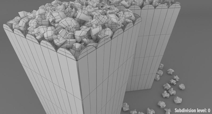Popcorn W Pudełkach royalty-free 3d model - Preview no. 16