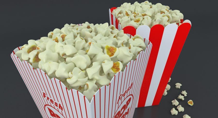 Popcorn W Pudełkach royalty-free 3d model - Preview no. 3