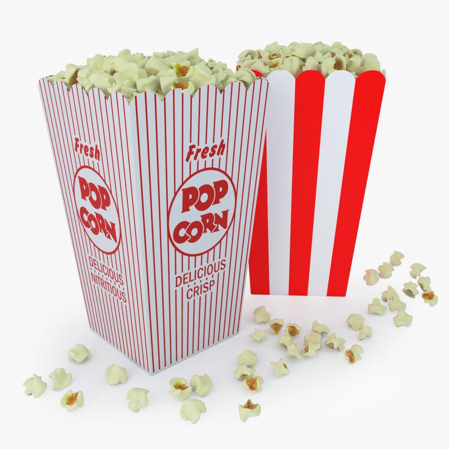Popcorn W Pudełkach royalty-free 3d model - Preview no. 1