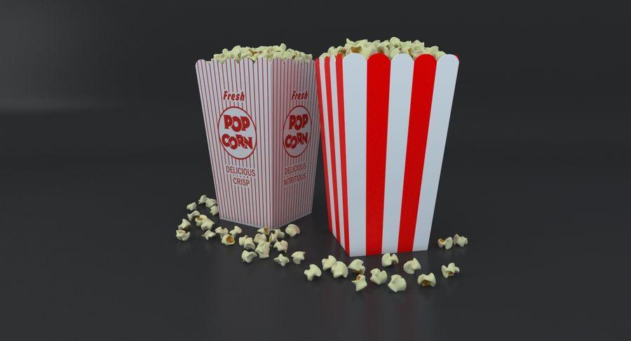 Popcorn W Pudełkach royalty-free 3d model - Preview no. 7
