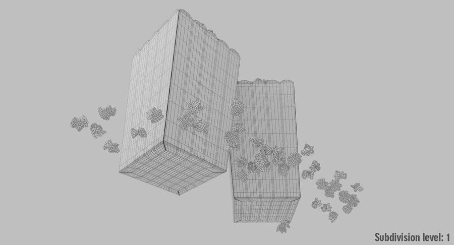Popcorn W Pudełkach royalty-free 3d model - Preview no. 14