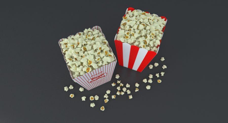 Popcorn W Pudełkach royalty-free 3d model - Preview no. 4