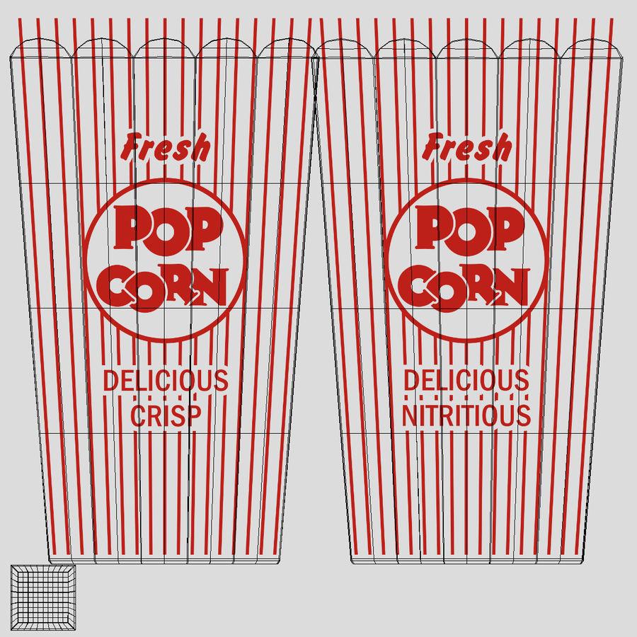 Popcorn W Pudełkach royalty-free 3d model - Preview no. 8