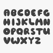 様式化された低ポリアルファベット 3d model