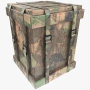 木制战利品盒 3d model