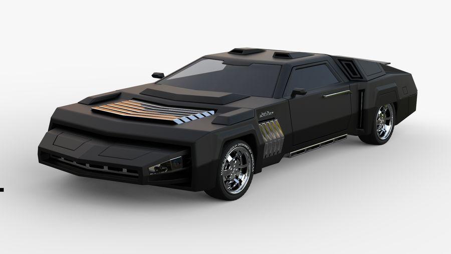 New concept future car design royalty-free 3d model - Preview no. 1