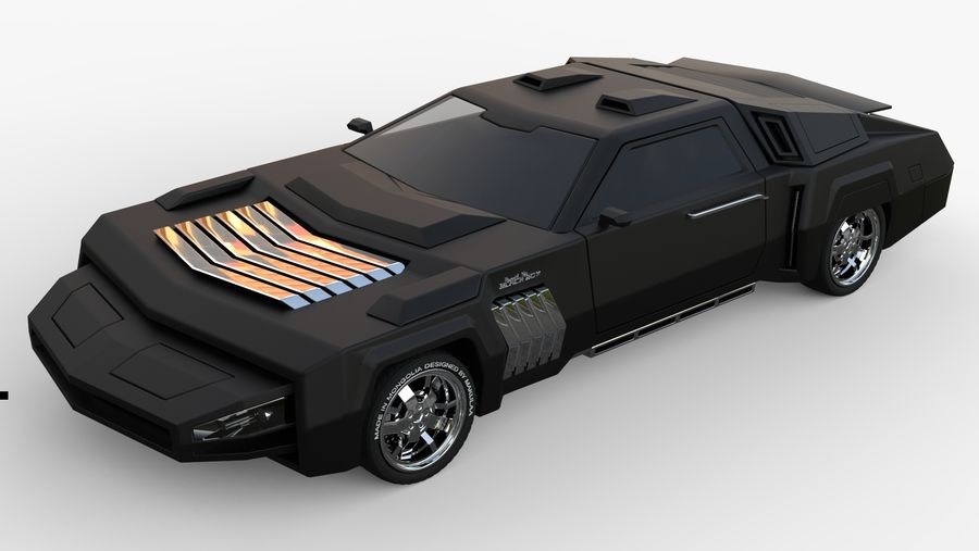 New concept future car design royalty-free 3d model - Preview no. 10