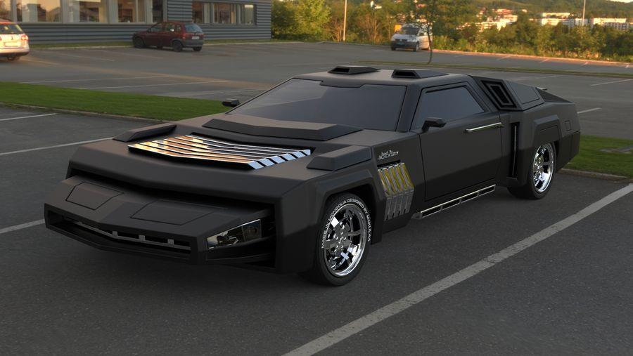 New concept future car design royalty-free 3d model - Preview no. 2