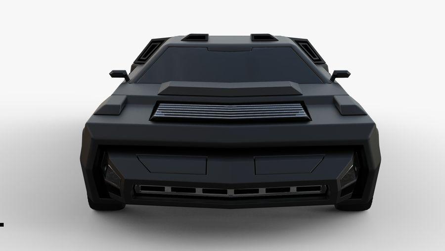 New concept future car design royalty-free 3d model - Preview no. 8
