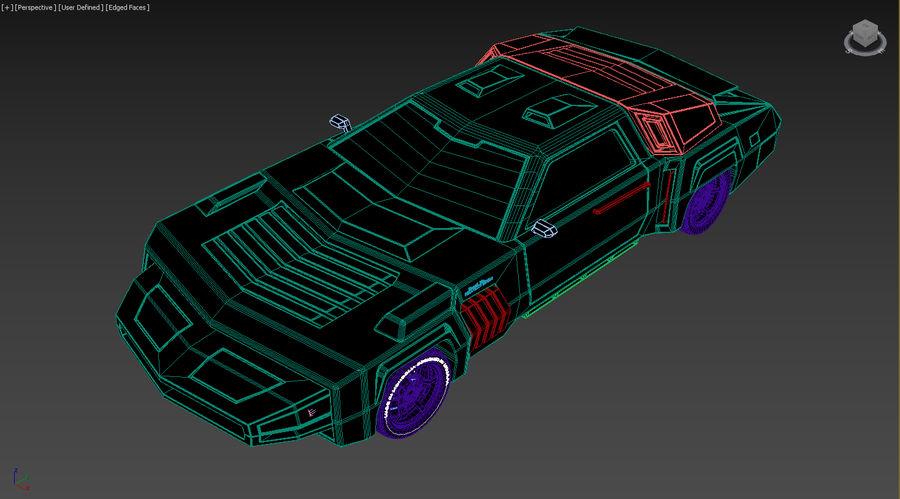 New concept future car design royalty-free 3d model - Preview no. 12