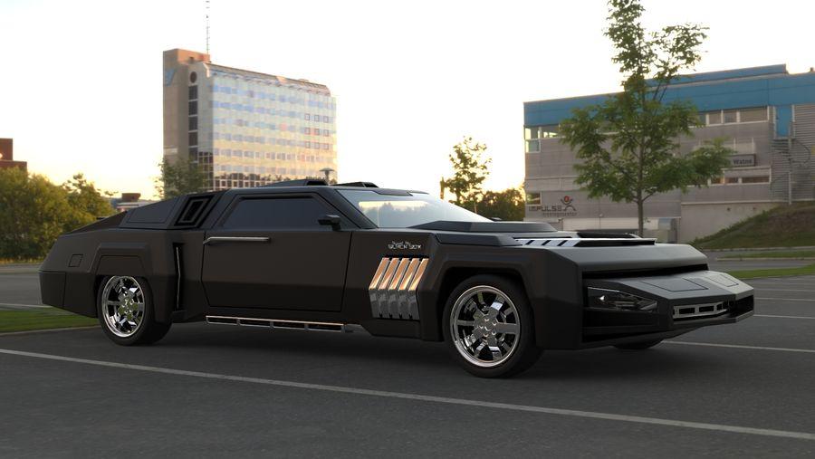 New concept future car design royalty-free 3d model - Preview no. 3