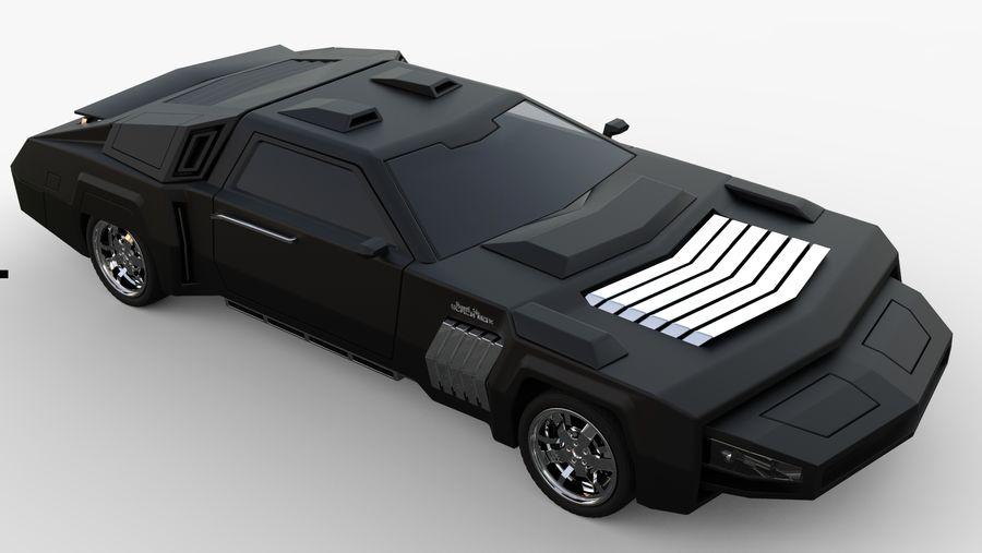 New concept future car design royalty-free 3d model - Preview no. 9