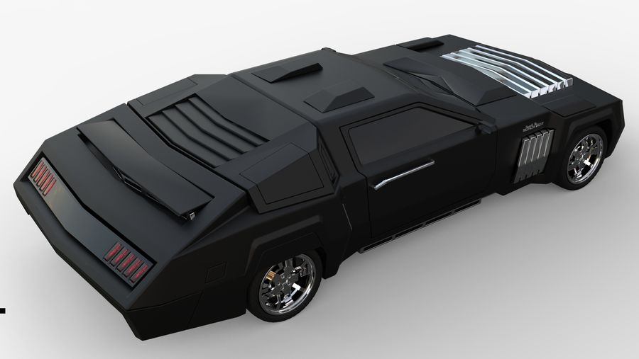 New concept future car design royalty-free 3d model - Preview no. 11