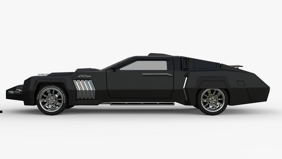 New concept future car design royalty-free 3d model - Preview no. 4