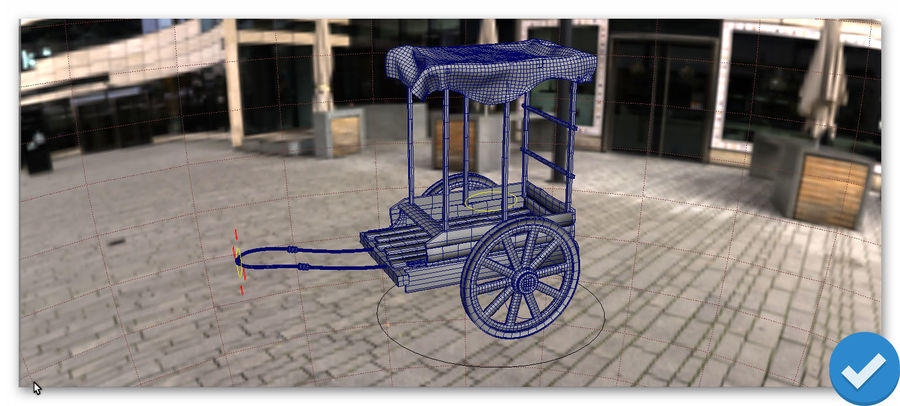 wagon royalty-free 3d model - Preview no. 6