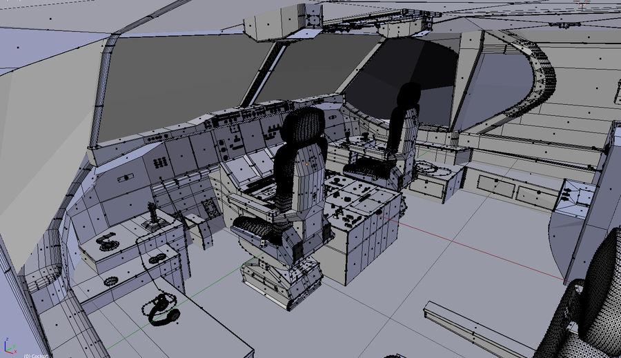 Intérieur avion cockpit royalty-free 3d model - Preview no. 9