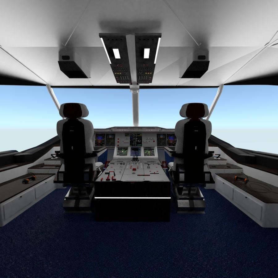 Intérieur avion cockpit royalty-free 3d model - Preview no. 3