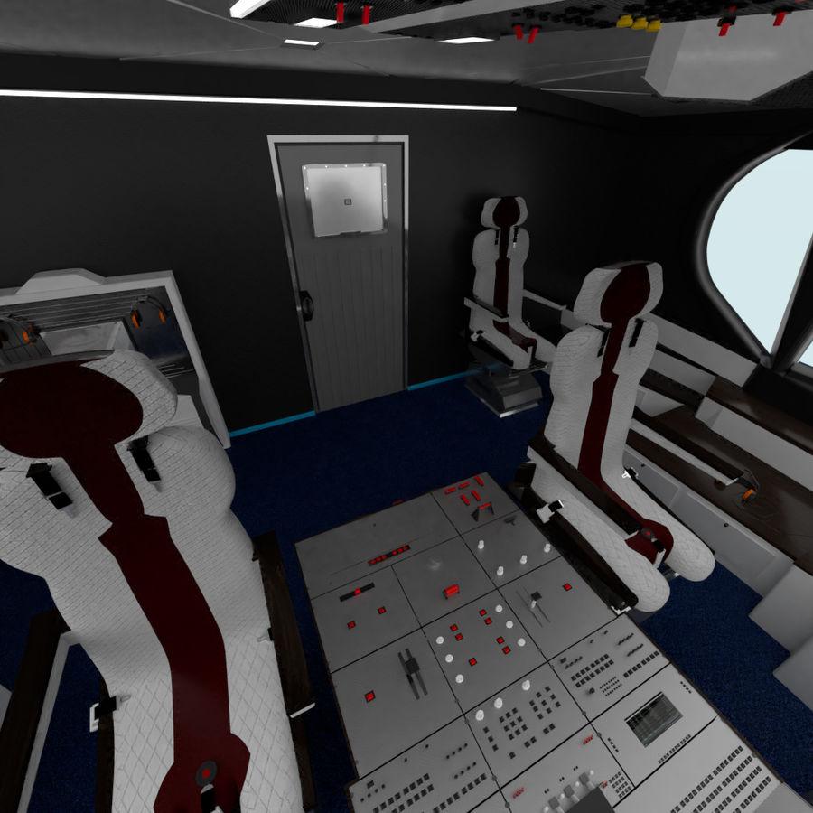 Intérieur avion cockpit royalty-free 3d model - Preview no. 6