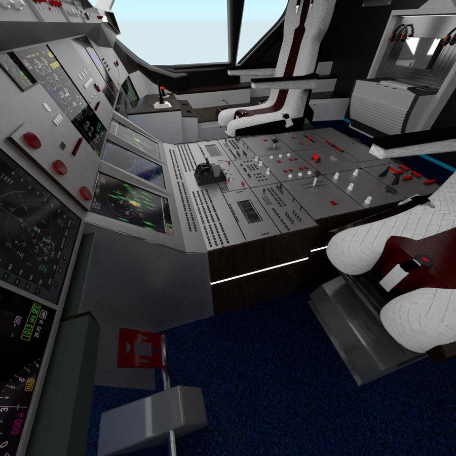 Intérieur avion cockpit royalty-free 3d model - Preview no. 2