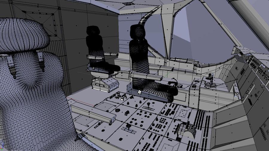 Intérieur avion cockpit royalty-free 3d model - Preview no. 11