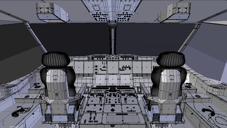 Intérieur avion cockpit royalty-free 3d model - Preview no. 10