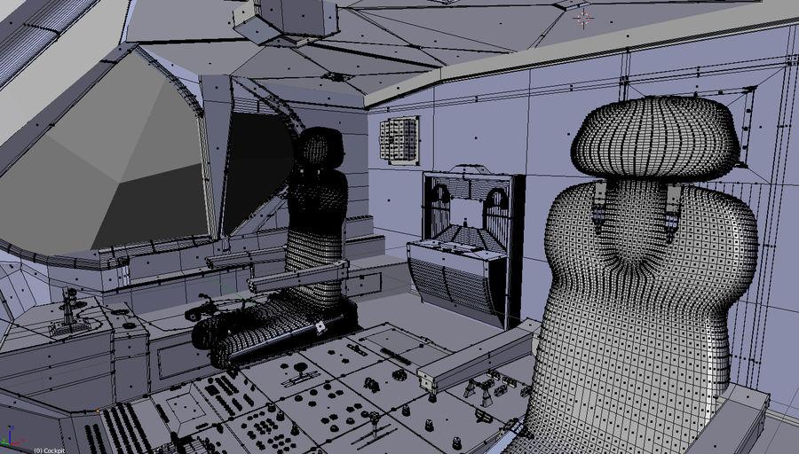 Intérieur avion cockpit royalty-free 3d model - Preview no. 12