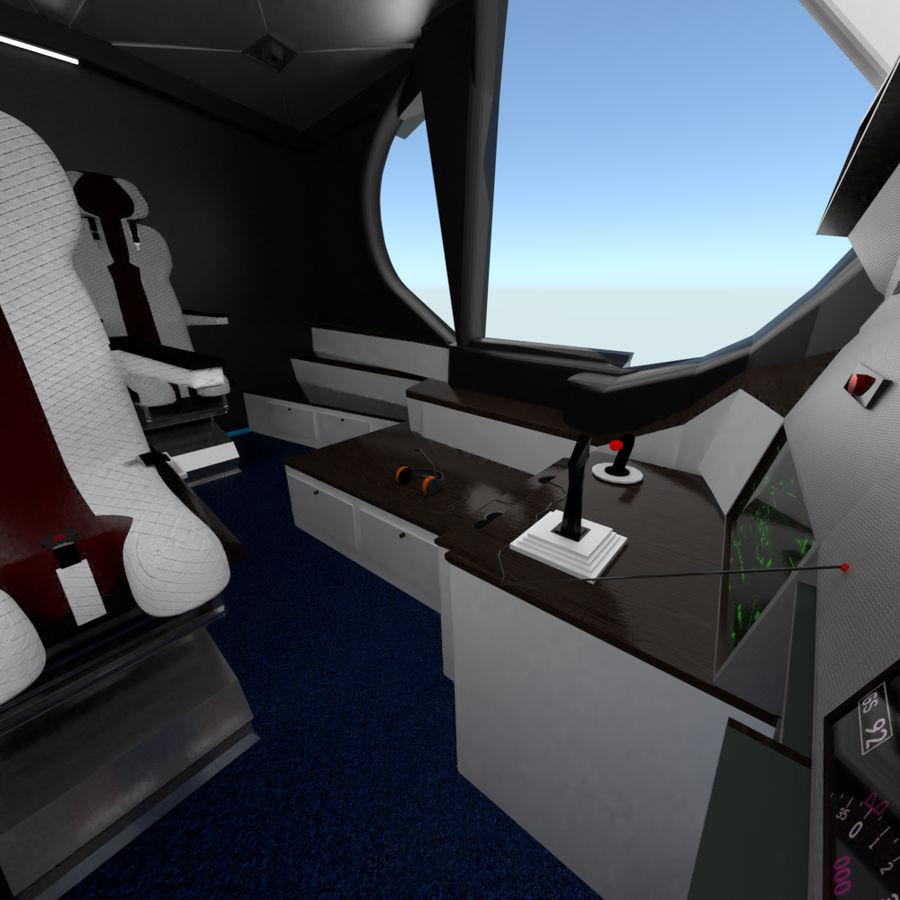 Intérieur avion cockpit royalty-free 3d model - Preview no. 8