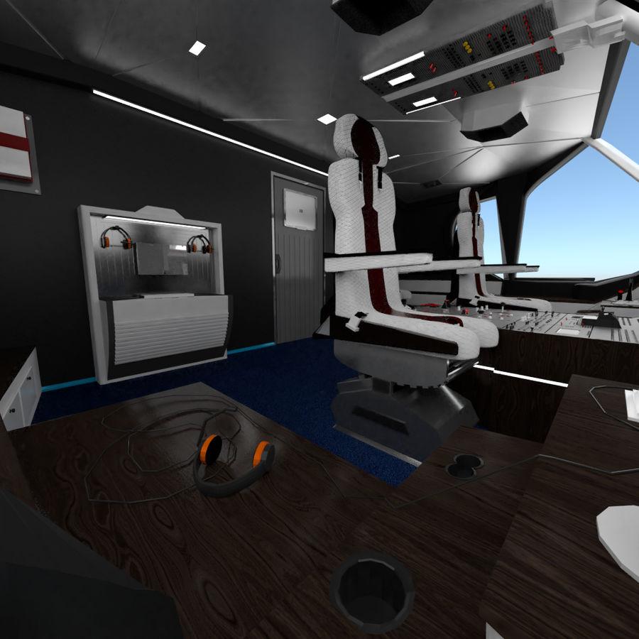 Intérieur avion cockpit royalty-free 3d model - Preview no. 4