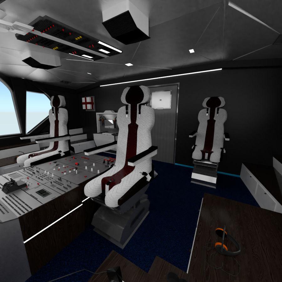 Intérieur avion cockpit royalty-free 3d model - Preview no. 1