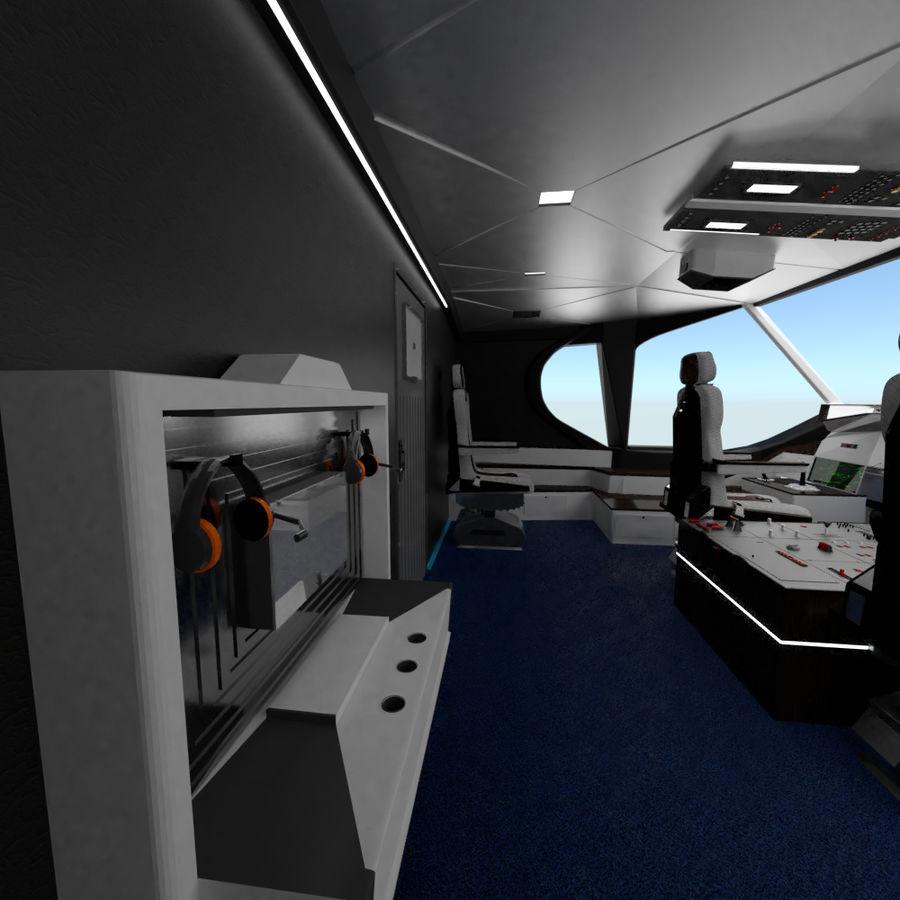 Intérieur avion cockpit royalty-free 3d model - Preview no. 5
