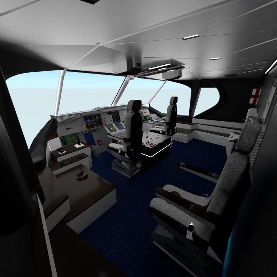 Intérieur avion cockpit royalty-free 3d model - Preview no. 7