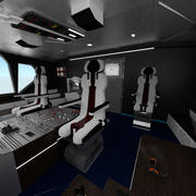 Airplane Airbus Cockpit Interior 3d model