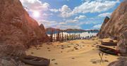 Krajobraz skały na plaży 3d model