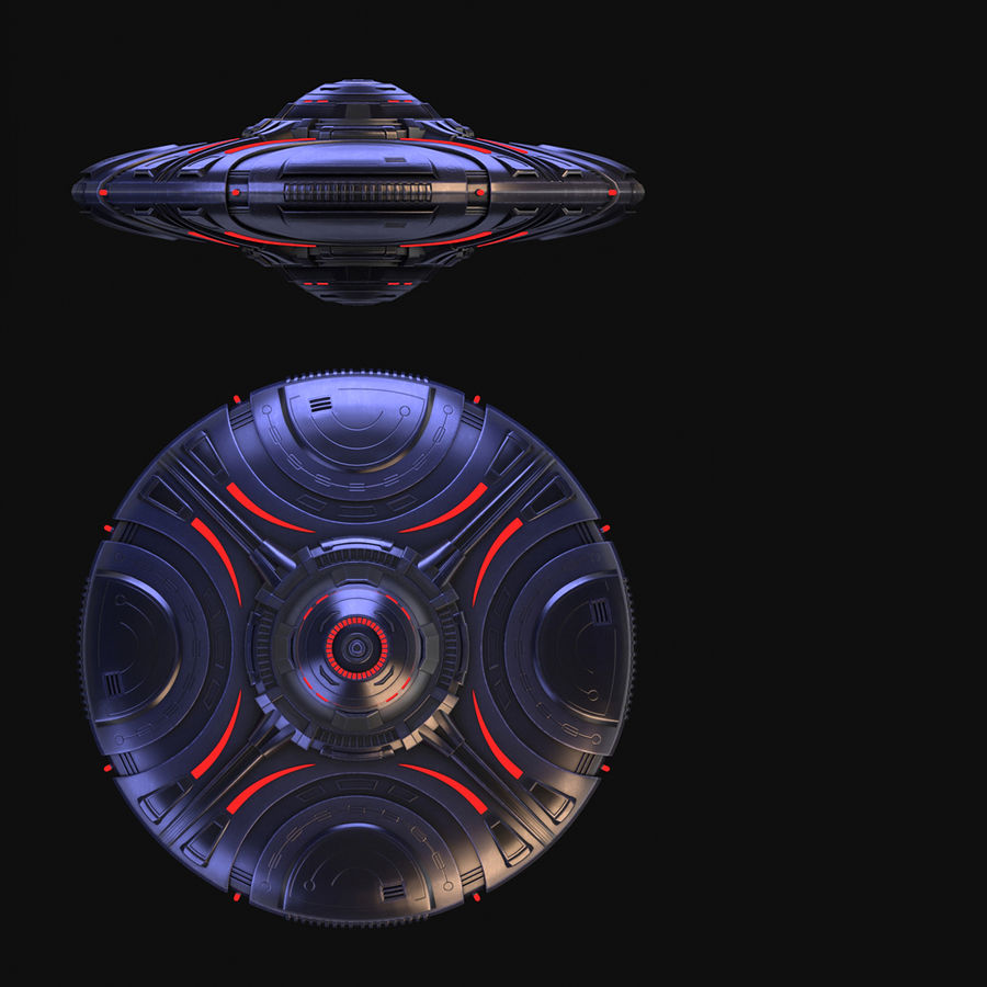 OVNI extraterrestre de science-fiction royalty-free 3d model - Preview no. 13