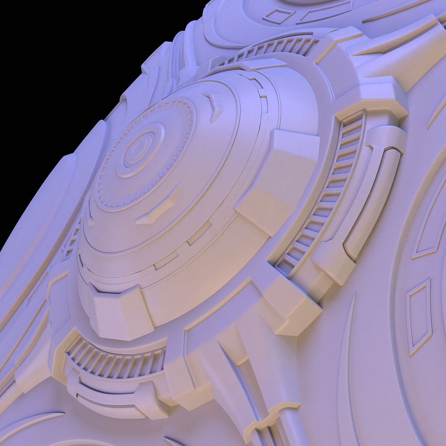 OVNI extraterrestre de science-fiction royalty-free 3d model - Preview no. 16