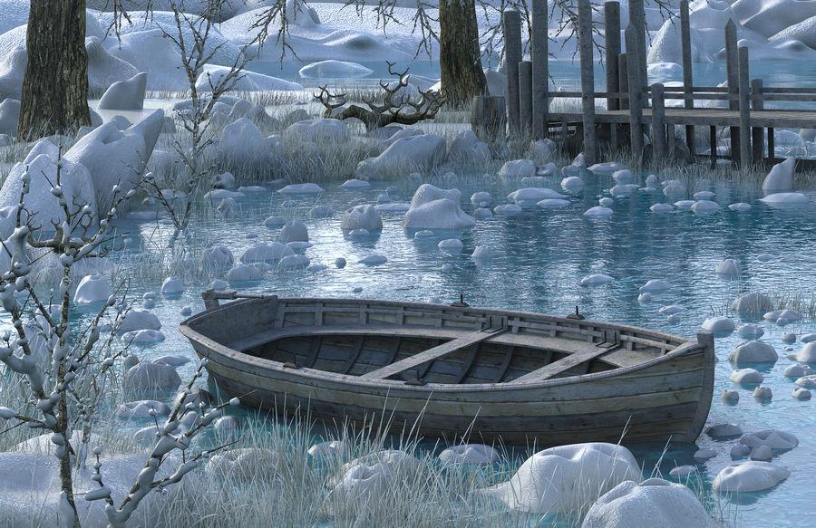 Fantasy Winter Beach royalty-free 3d model - Preview no. 4
