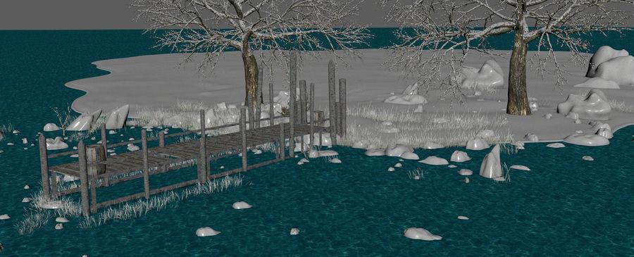 Fantasy Winter Beach royalty-free 3d model - Preview no. 11