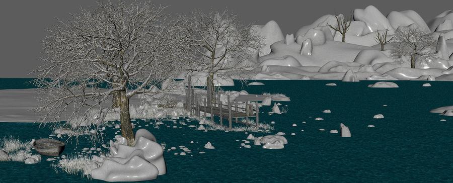 Fantasy Winter Beach royalty-free 3d model - Preview no. 17