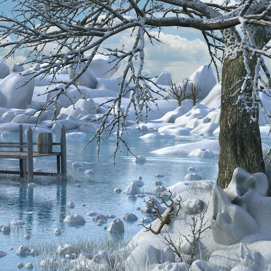 Fantasy Winter Beach royalty-free 3d model - Preview no. 9