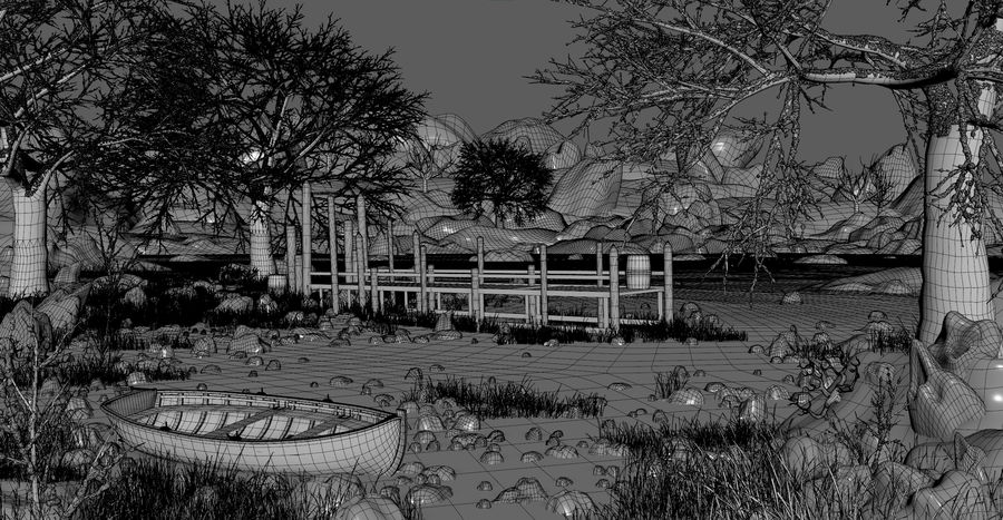 Fantasy Winter Beach royalty-free 3d model - Preview no. 3