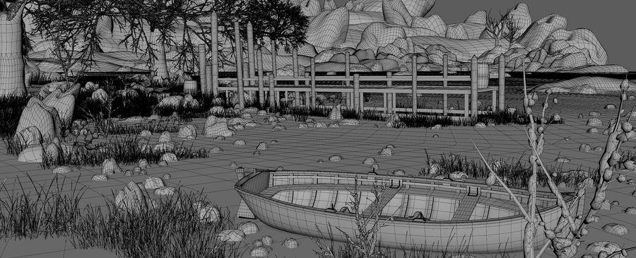 Fantasy Winter Beach royalty-free 3d model - Preview no. 14