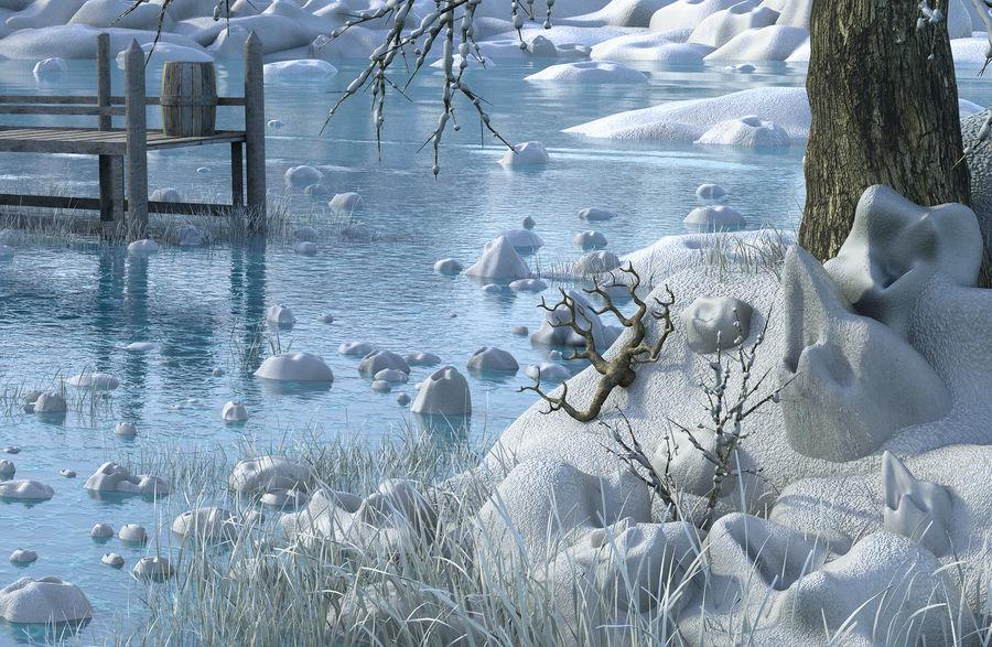 Fantasy Winter Beach royalty-free 3d model - Preview no. 5