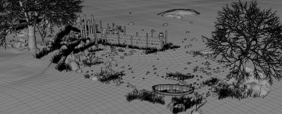 Fantasy Winter Beach royalty-free 3d model - Preview no. 16