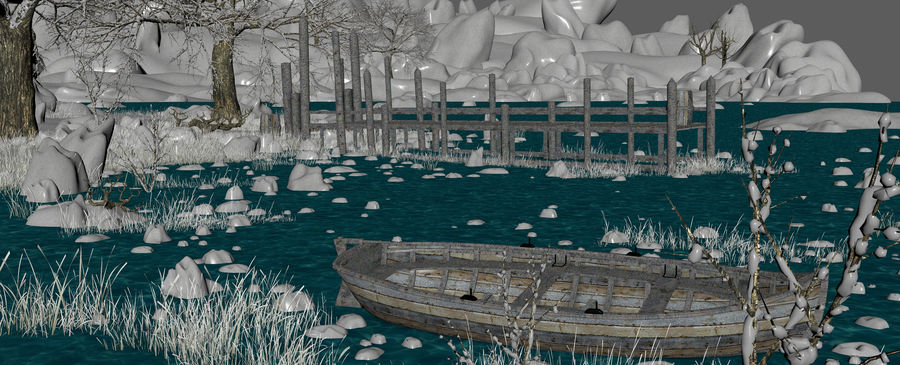 Fantasy Winter Beach royalty-free 3d model - Preview no. 13